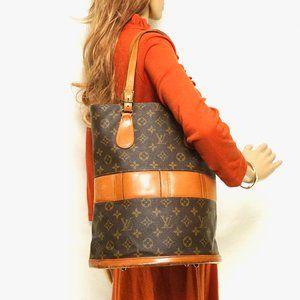 Auth Louis Vuitton Bucket Tote Bag #8286L20